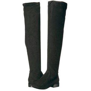 ALDO THIGH-HIGH SUEDE BOOTS - BLACK